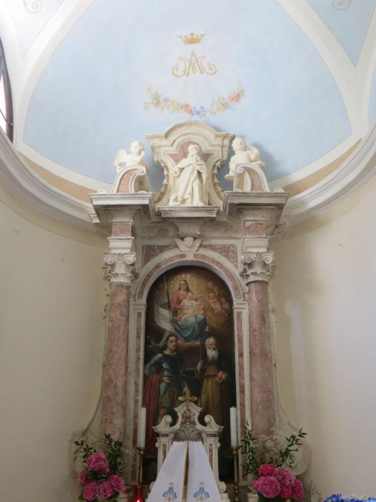 La pala dell'altare datata 1741